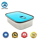 YiShine Stainless Steel Bento Lunch Box Food Container Storage for Adults or Kids, Students, Leak Proof Air Tight Lids, Dishwasher Safe, Durable Sandwich Box, Blue