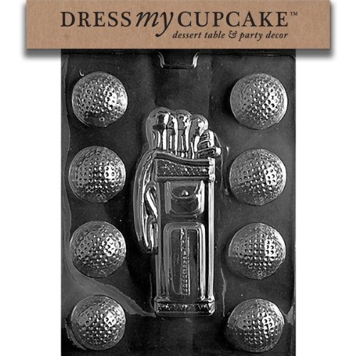 - Dress My Cupcake DMCS028 Chocolate Candy Mold, Golf, Caddy, Balls