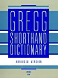 Gregg Shorthand Dictionary, Charles E. Zoubek and Gregg Condon, 0070736820