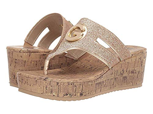 - G by GUESS Women's Gandy Sand/Gold 7 M US
