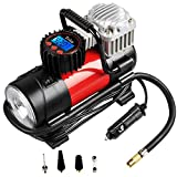 Tcisa Portable Air Compressor Pump 150 PSI, 12V 140W Auto Digital Car Tire Inflator Gauge