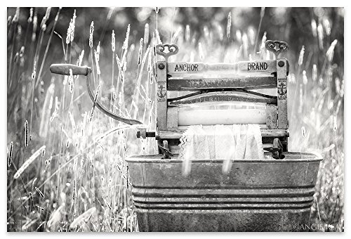 Antique Wringer Washer Laundry Room Decor, Black and White Photography, Americana Fine Art Photography Print, Laundry Room Art (Old Wringer Washer compare prices)