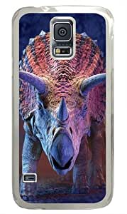 Charging Triceratops Dinosaur Custom Samsung Galaxy S5/Samsung S5 Case Cover