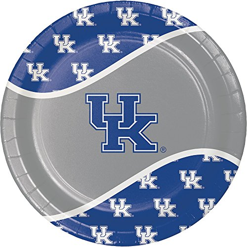 Creative Converting 424768 Kentucky Wildcats Dinner Paper Plates, 8-Count