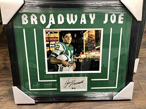 1/1 Joe Namath Autographed Signed Custom Framed Cut Auto Memorabilia JSA Broadway Joe 8x10 Photo