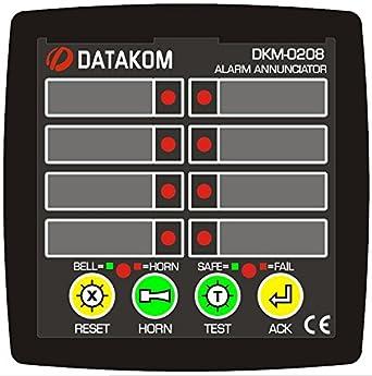 DATAKOM DKM-0208 Alarma anunciador, 8ch, fuente de ...