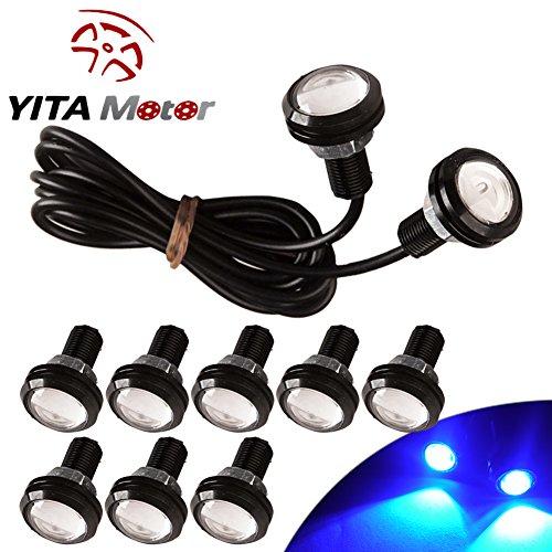 YITAMOTOR 10x Eagle Eye 23mm Motor Car 9W LED Daytime Running DRL Tail Backup Ultra Blue Bulbs