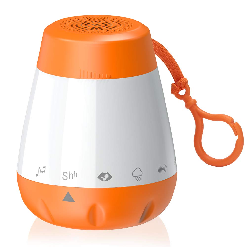 Baby White Noise Sound Machine for Sleeping, LBell Baby Sleep Soother with Shush-Voice Sensor