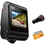 """Roav by Anker Dash Cam C1, Dashboard Camera Recorder, 2.4"""" LCD, 1080P FHD, 4-Lane Wide-Angle View Lens, Built-In WiFi, G-Sensor, WDR, Loop Recording, Night Mode, 2-Port Charger, 32G microSD Card"""