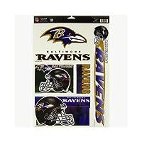 "NFL Baltimore Ravens 04405051 Multi Use Decal, 11"" x 17"""