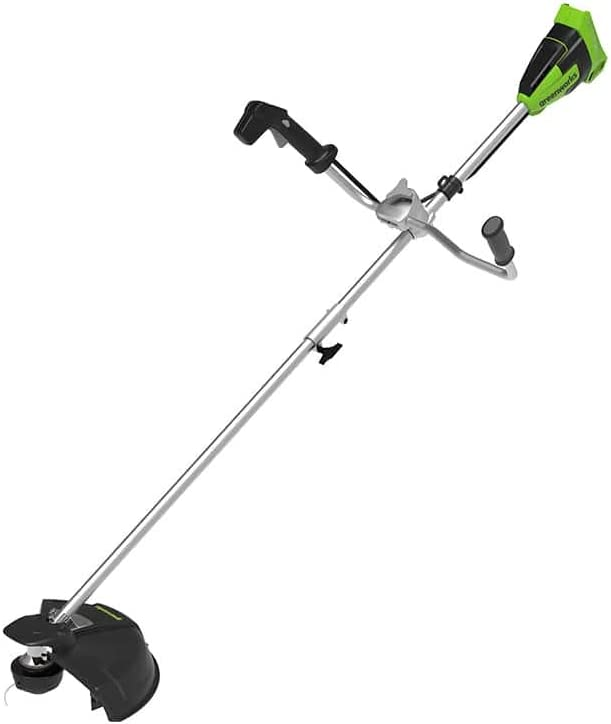 Greenworks Cortadora de césped sin cable GD40BCB (Li-Ion 40 V 40 cm ancho de corte 2 mm hilo/cuchillo 6300 rpm Mango de bicicleta potente motor sin escobillas sin batería y cargador)