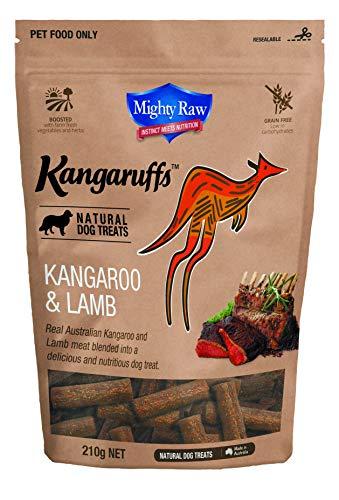 Mighty Raw Kangaruff Kangaroo and Lamb Dog Treats 210 g, Click on image for further info.