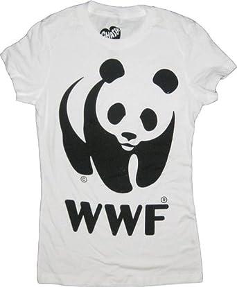 22ccfe437 Amazon.com: WWF World Wildlife Fund Panda White T-Shirt Tee: Clothing