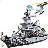 Enlighten Military Series Battle Cruiser Mini Figures Building Blocks Toy for Child / 970 pieces (Plastic)