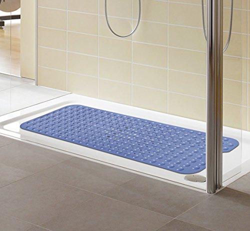 Extra long bathtub mats anti slip tub mat anti bacterial for Extra long soaking tub
