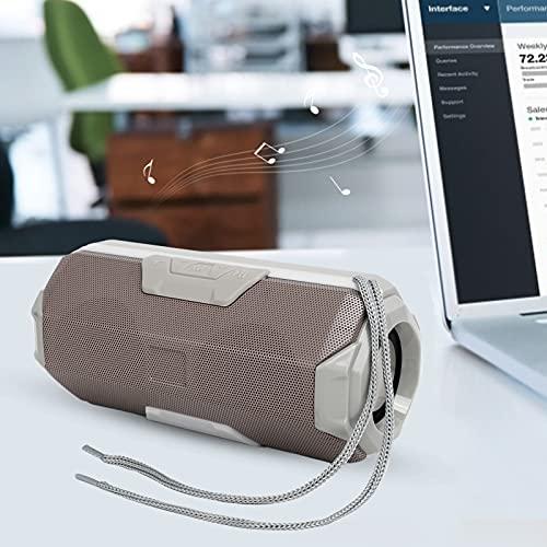 Luidsprekerbox, luidsprekerbox Draagbare draadloze luide stereo met LED-licht voor thuis voor buitenfeest, kamperen(grey…