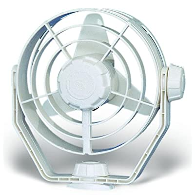 HELLA 003361022 '3361 Series' 12V DC 2 Speed Turbo Fan with White Housing: Automotive