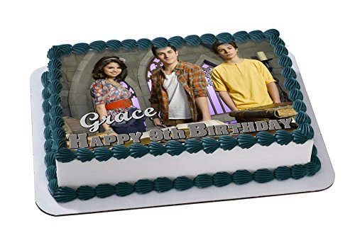 Wizards of Waverly Place Edible Image Cake Topper Personalized Icing Sugar Paper A4 Sheet Edible Frosting Photo Cake 1/4 ~ Best Quality Edible Image for cake