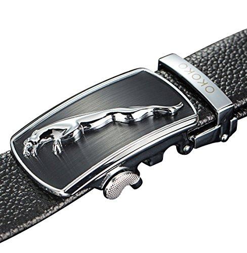 Changeable Buckle (OKOKO fashion men's alloy Ratchet belt buckle automatic buckle (3.5cm width) (style)