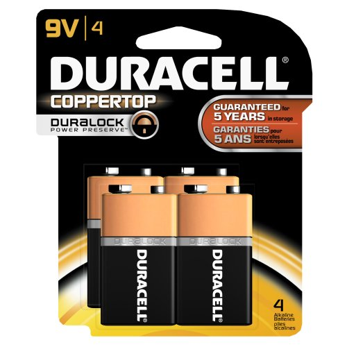 Duracell Coppertop 9-V Alkaline Batteries 4 Count, Baby & Kids Zone