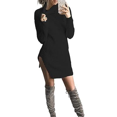 Anself Robe en Tricot Femme Chandail Longue Manches Longues Moulante Sexy pour Automne Hiver