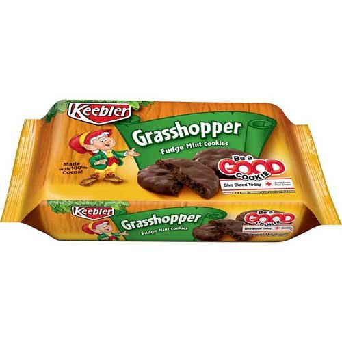 Keebler Fudge Shoppe Grasshopper Fudge Mint Cookies 10 oz (Pack of - Keebler Cookies Mint