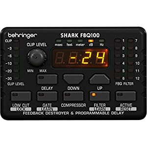 Behringer Shark FBQ100 Automatic Feedback Destroyer with Integrated Microphone Preamp, Delay Line, Noise Gate and Compressor