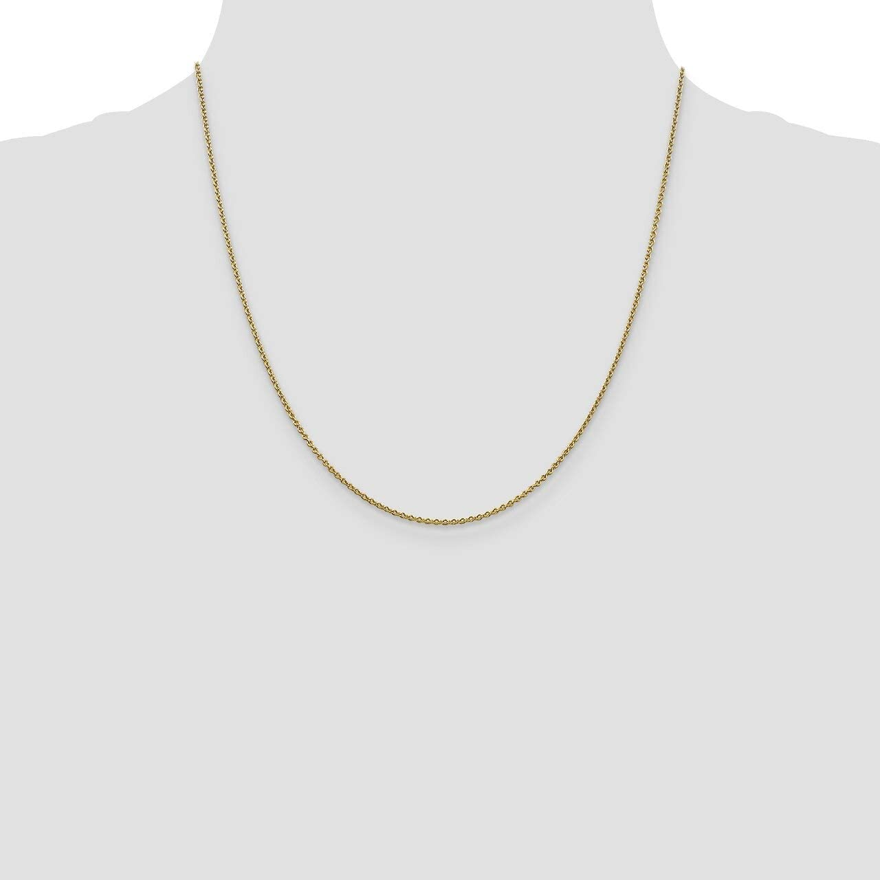 Lex /& Lu Leslies 14k Yellow Gold Round Cable Chain Necklace LAL92267