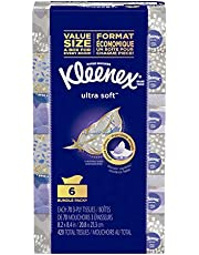 Kleenex Ultra Soft Facial Tissues, Hypoallergenic, 6 Rectangular Boxes, 70 Tissues per Box (420 Tissues Total)