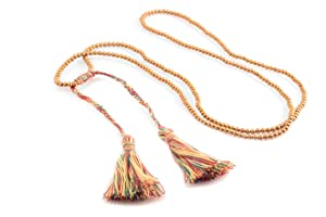 Gold Beaded Tassel Necklace and Bracelet Fashion Trendy Dangle Chain Necklace (Green)