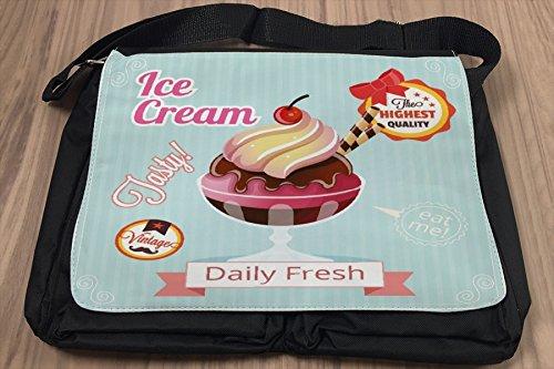 Borsa Tracolla Nostalgico Divertimento Ice cream Stampato