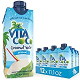 Gourmet Food : Vita Coco Coconut Water, Pure - Naturally Hydrating Electrolyte Drink - Smart Alternative to Coffee, Soda, and Sports Drinks - Gluten Free - 11.1 Ounce (Pack of 12)