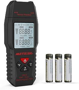 EMF Meter Meterk Electric Field and Magnetic Field Radiation Handheld