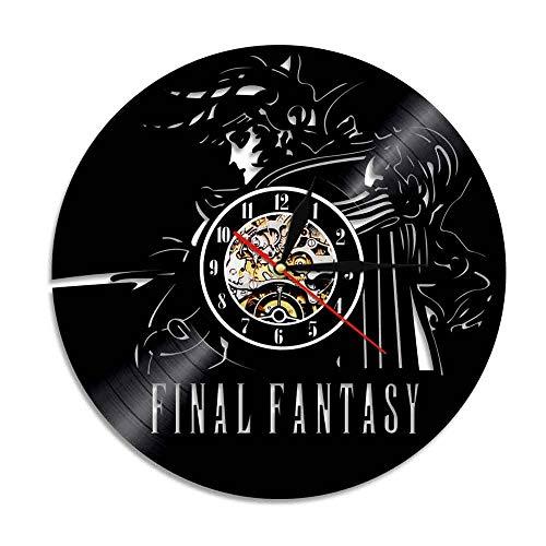 Record Final Vinyl Scratch (ZJWZ Wall Clock Final Fantasy Black Decorative Vinyl Record Wall Clock,0576)