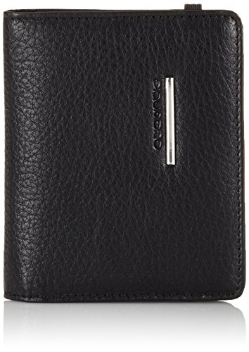 Piquadro Pocket Credit Card Holder, Black, One Size by Piquadro