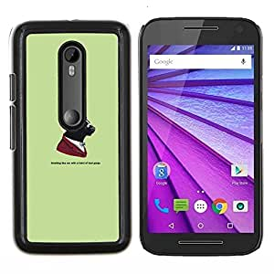 "Be-Star Único Patrón Plástico Duro Fundas Cover Cubre Hard Case Cover Para Motorola Moto G (3rd gen) / G3 ( Gangster Skunk Animal - Gracioso"" )"