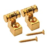 Musiclily Roller Guitar String Tree Guides Retainer for Fender Strat Stratocaster Tele Telecaster Electric Guitar, Gold (Pack of 4)