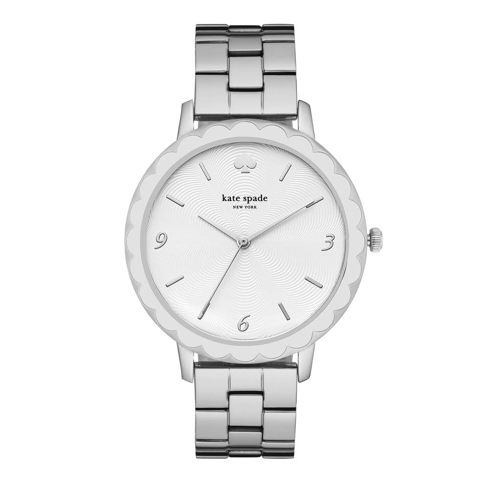 kate spade new york Women's Scallop Quartz Watch with Stainless-Steel Strap, Silver, 16 (Model: KSW1493) by Kate Spade New York