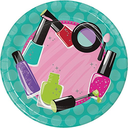 Sparkle Spa Party Supplies Pack Bundle for 16 Guests: Straws, Dessert Plates, Beverage Napkins, and Cups by Cedar Crate Market (Image #2)