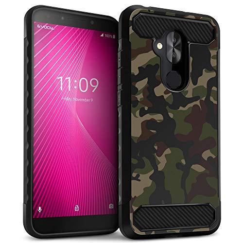 T-Mobile REVVL 2 Plus Case, Evocel [Dual Lite Series] Lightweight & Slim Profile Dual Layer Case with Side Grips for T-Mobile REVVL 2 Plus/Alcatel 7 Folio, Camouflage
