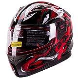 VIPER Modular Dual Visor Motorcycle / Snowmobile Helmet DOT Approved (IV2 Model #953) - RED (XL)