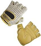 AERO TECH DESIGNS ATD Gel Padded Leather Cotton Crochet Fingerless Cycling Gloves (3XL)