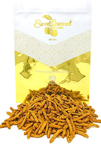(SweetGourmet Original Narrow Sesame Sticks | Lightly Salted | Kosher | 3 Pounds)