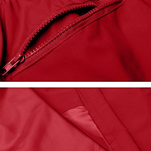 Outdoor Con Antipioggia Rosso Cappuccio Donna Unbrand Trench Impermeabili Active Giacca Da 2 7YBXw7Saq