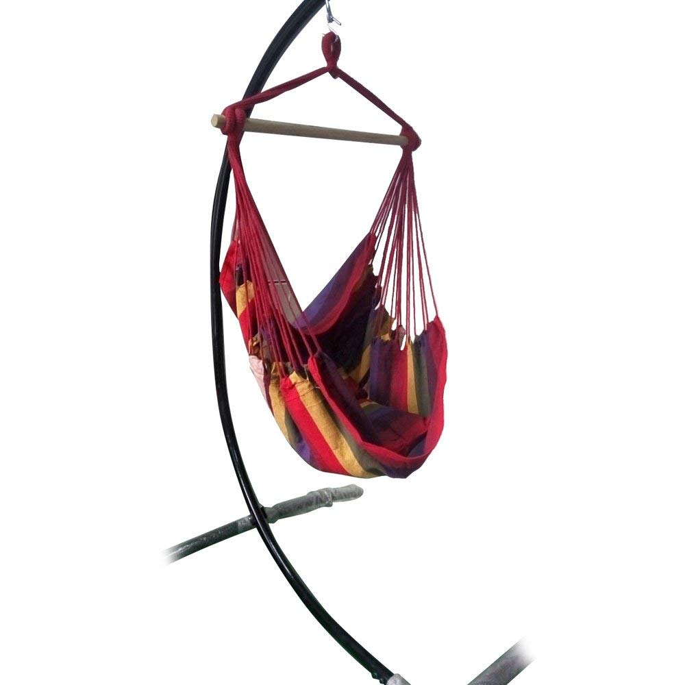 Boylymia Hanging Rope Hammock Chair Swing Seat for Any Indoor or Outdoor Spaces- Max. 250 Lbs -2 Seat Cushions Included