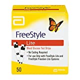 Freestyle lite glucose test strips 50 count