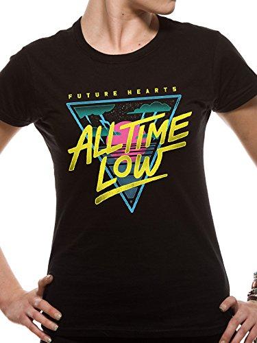 All Time Low Future diseño de corazones de las mujeres Skinny Fit–Camiseta para hombre