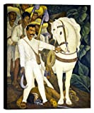 Agrarian Leader Zapata Emiliano by Diego Rivera Mexican Canvas Art - 38x26in