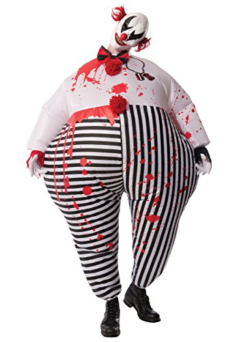 It Scary Clown Costumes (Rubie's Costume Co Men's Inflatable Evil Clown Costume, Multi, Standard)