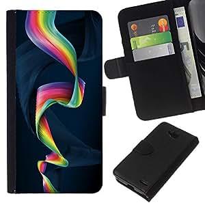 All Phone Most Case / Oferta Especial Cáscara Funda de cuero Monedero Cubierta de proteccion Caso / Wallet Case for LG OPTIMUS L90 // Colorful Spiral